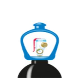 alphagaz™ 2 azoto garrafa smartop l50