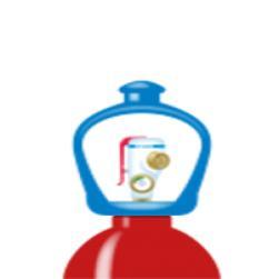 alphagaz™ mix ch4 5%/air garrafa smar...